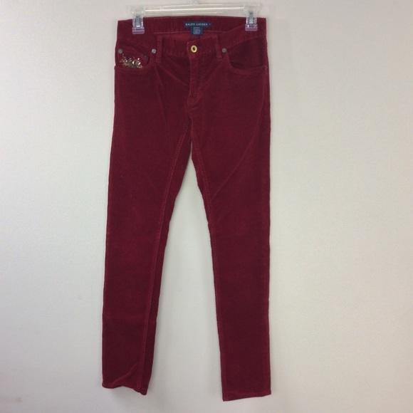 Ralph Lauren Blue Label Pants - NWOT Ralph Lauren Blue Label Red Corduroy Size2